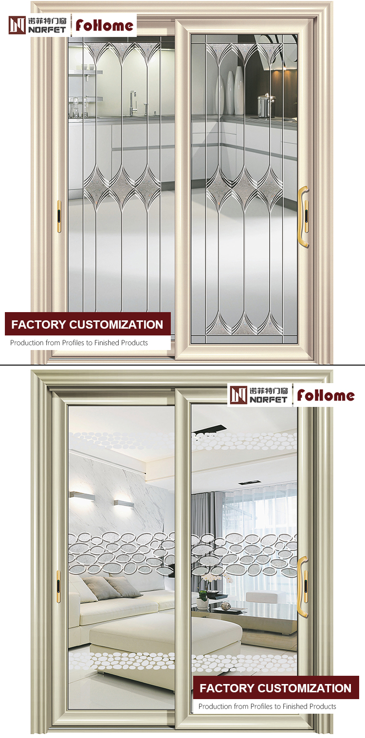 4 panel design aluminum frame folding glass new metal back stainless steel front doors residential