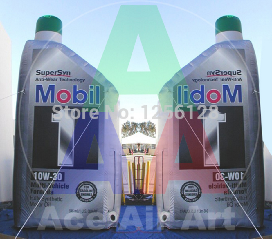 Hot sale inflatable motor oil bottle,inflatable replicas model,inflatable model for advertising/inflatable