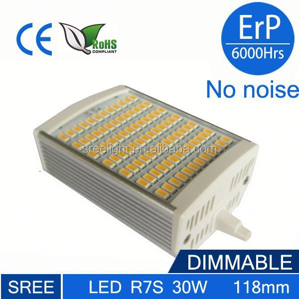 SREE LED light 30W R7S 3000LM 118mm Dimmable 13w r7s led replace double ended haloge