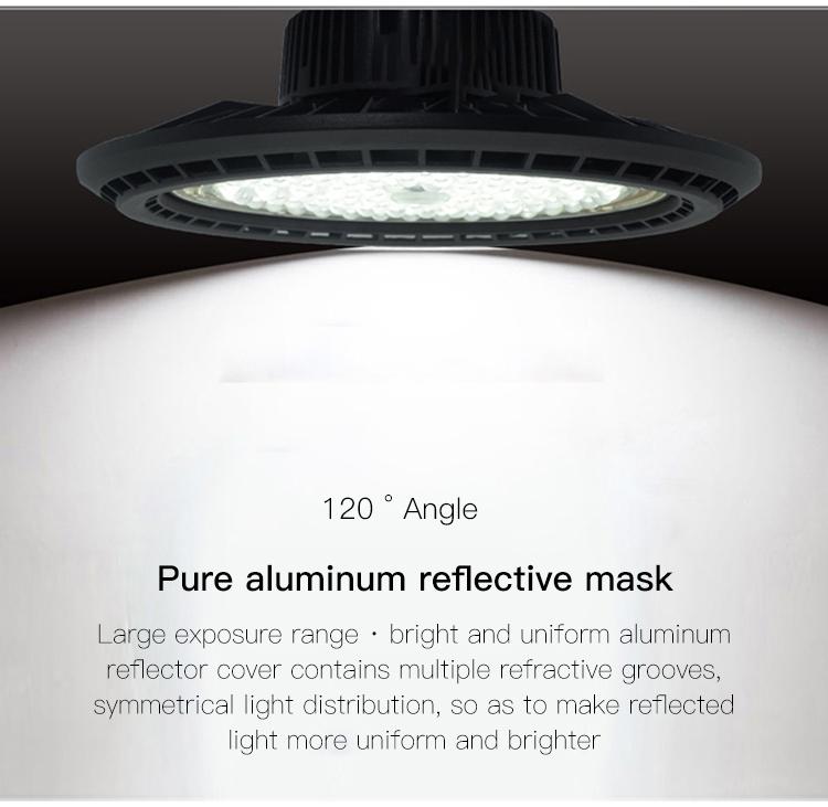 Fábrica de alta calidad industrial almacén de aluminio 70w 100w 150w ufo led alta luz de la Bahía