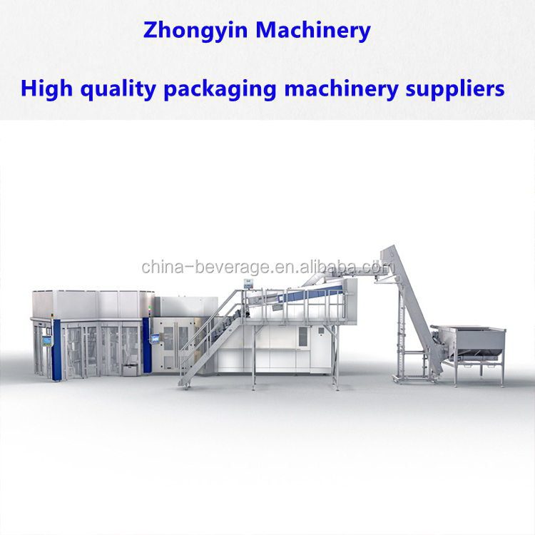 Aseptic cold filling ultra clean mono-bloc alcoholic beverage processing equipment/plant filling system drinks production line