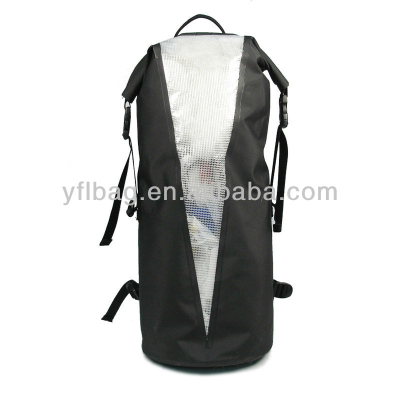 roll top rucksack with clean window