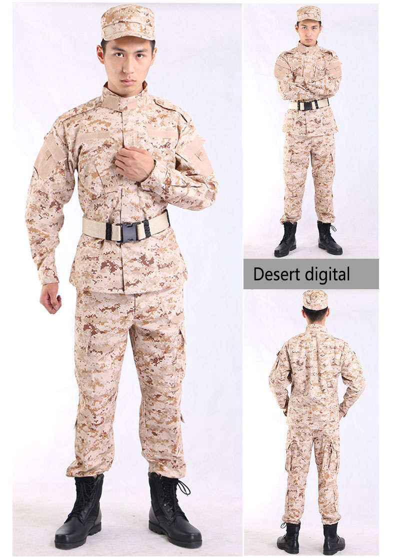 Immediate Delivery Stock Fast Wholesale Army Cloth Desert military camouflage uniform khaki army uniform acu military uniform