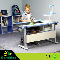 Ergonomic height adjustable desk, children writing desk