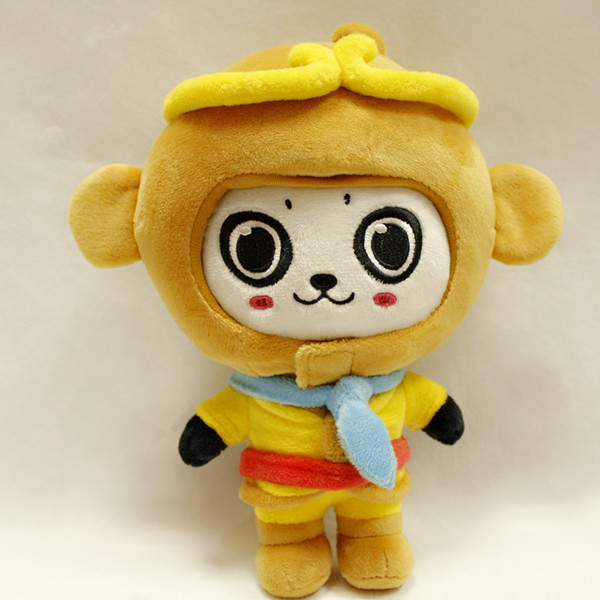 Wholesale top quality animated animal monkey king promotion plush toy