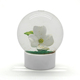 wholesale custom made resin romantic glass cheap funny 3d mini empty diy love White flower souvenir gift snow globe