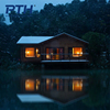 Light steel keel prefab house by the lake