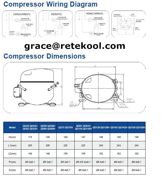 QD65 R134a LMBP Commercial Refrigeration Compressor Freezer