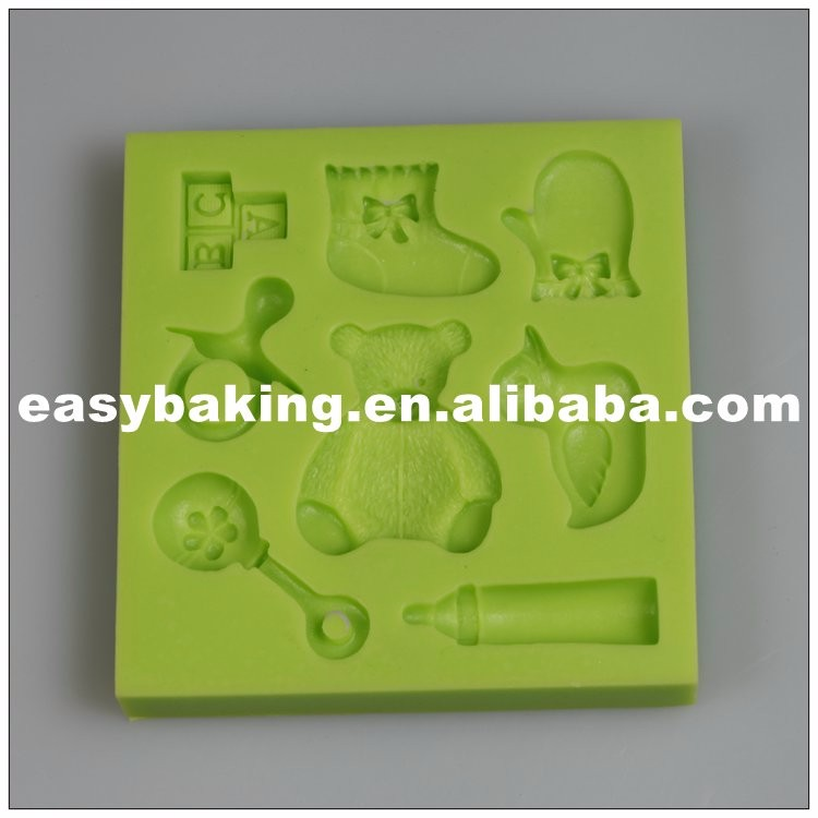 es-8417_Teddy Baby Sock Gloves Duck Bottle Cake Decorating Baby Series Silicone Mould_9656.jpg
