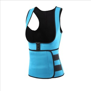 Hot Sale Neoprene Sauna Suit Tank Top Vest with Adjustable Waist Trimmer Belt