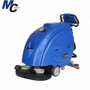 C660 battery powered floor washing cleaning machine hand push floor scrubber floor cleaning machine price