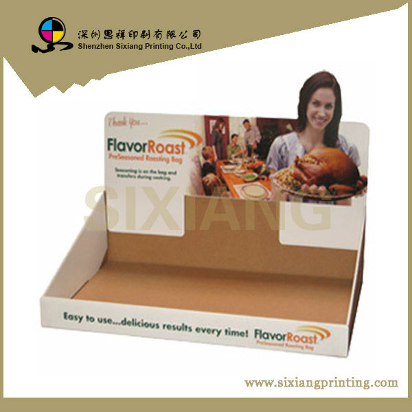 Design Cardboard Pos Display Stand, Small Food Paper Counter Unit at Factory Price