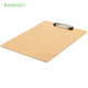 FC A4 A5 natural color MDF clip board wooden clipboard