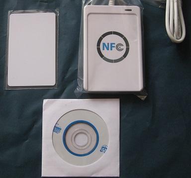 Nfc ACR122U RFID смарт-карт USB порт считыватель смарт-карт и писатель с 5 шт. Mifare IC карты контроля доступа ISO 14443