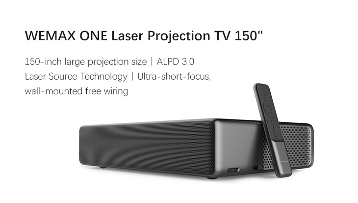 Xiaomi WEMAX ONE Ultra Short Throw Laser Projector 7000 Lumens Operating System MIUI TV Xiaomi WEMAX ONE Laser Projector