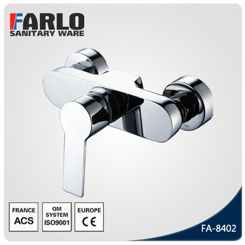 FARLO Brass Chrome wall mounted bath shower faucet
