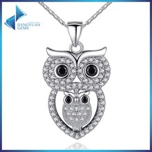 New design alloy cooper charm owl necklace