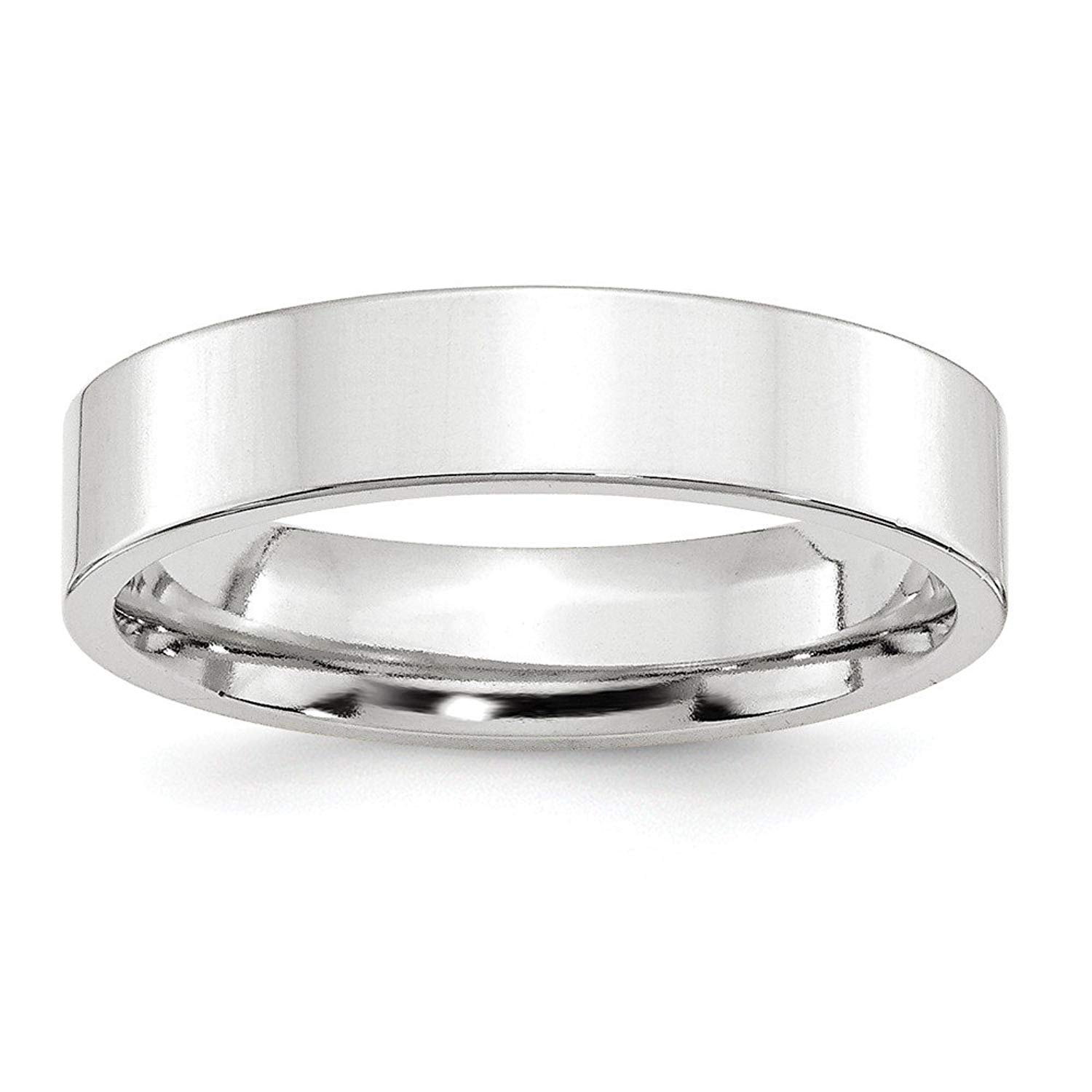 Perfect Jewelry Gift 14KW 5mm Standard Flat Comfort Fit Band Size 8