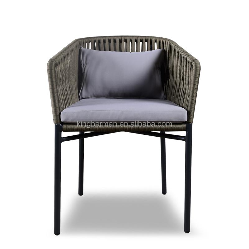 Tejido a mano cuerda muebles del patio comedor silla sillones ...