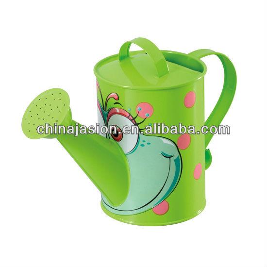 Kids Watering Can Garden Flower Pot Metal