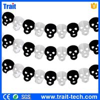 Black And White Skull Halloween Paper Chain Garland Decorations