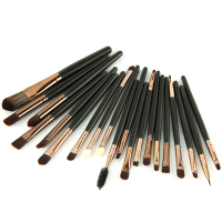 20Pcs Eye Makeup Brushes Set Professional Cosmetics Eyeshadow Concealer Eyebrow Foundation Powder with Premium Wooden Handles