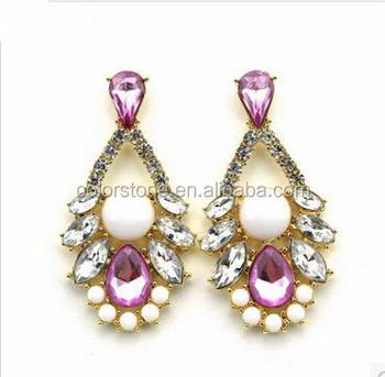 d320d00055f2 Vintage aretes pendientes moda de acrílico gota largos de las mujeres  acessorios cristal largo marca pendiente