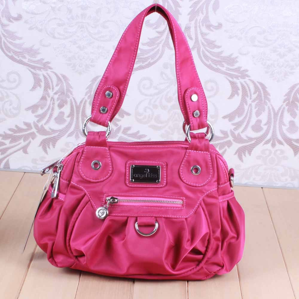 2014 newest pink PU fashion bag fashion sling bag angel kiss branded sling bag