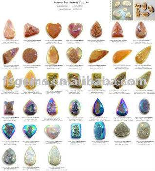 All Kinds Of Shapes Sizeulti Colors Natural Agate And Quartz Drusy Gemstone