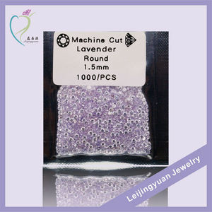 Machine cut round lavender fake cheap gemstone