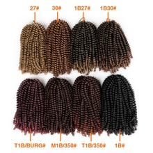 Synthetic Hair Extension Havana Mambo Spring Twist Crochet Braids Black/27#/30# M1B/350# Color Crochet Braiding Hair