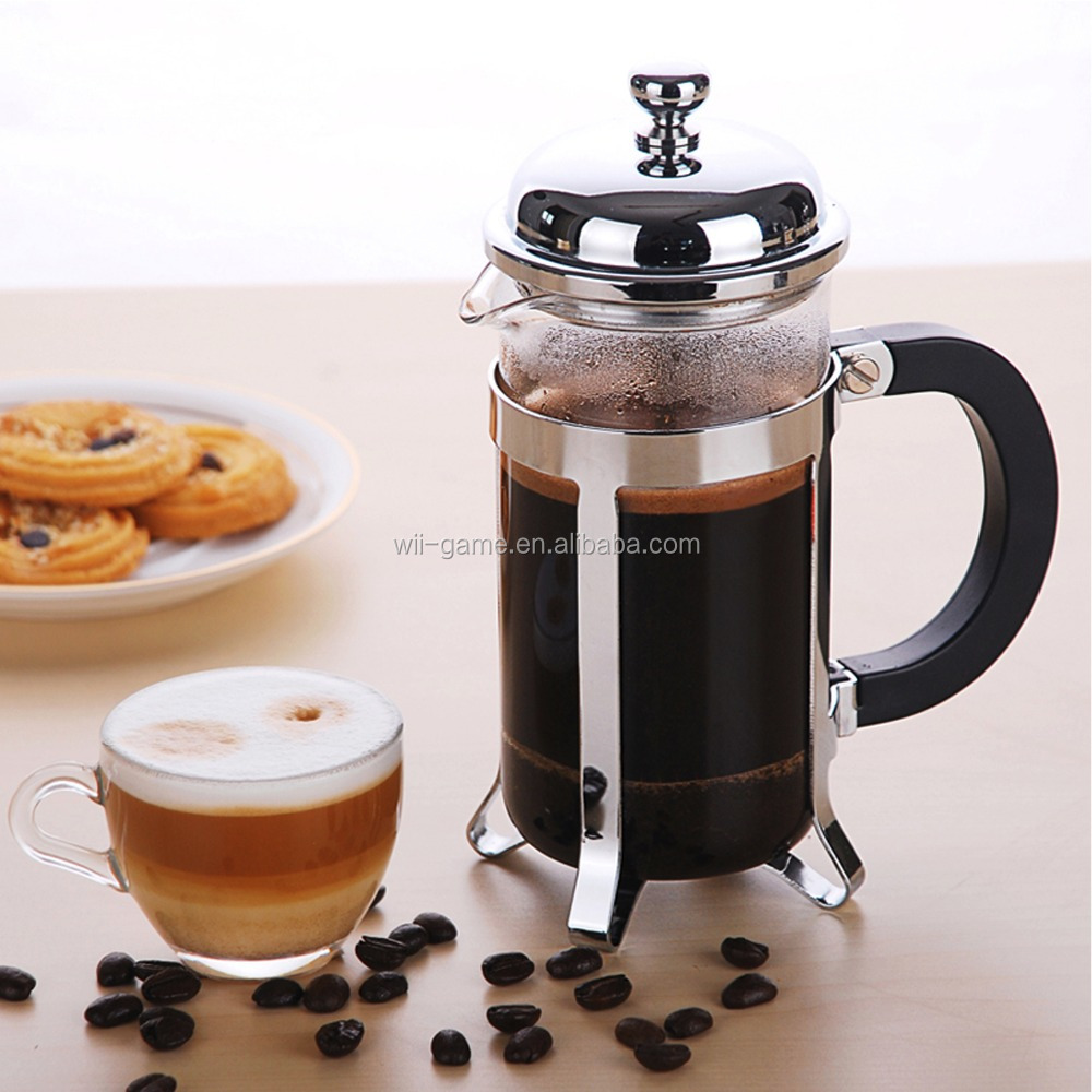 French Press Coffee & Tea Maker glass coffee pot for Amazon selling