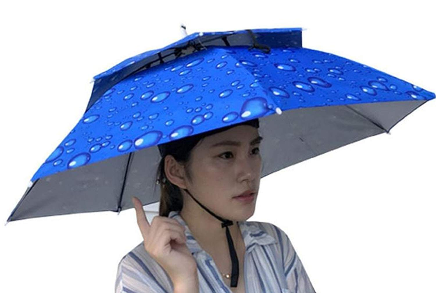 b412eff88bba5 Get Quotations · Double Layer Umbrella Hat for Women and Men