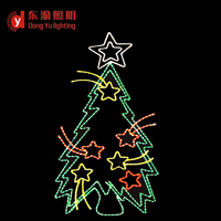 high quality commercial grade 2d sparkling LED rope light Christmas Tree for wall decoration