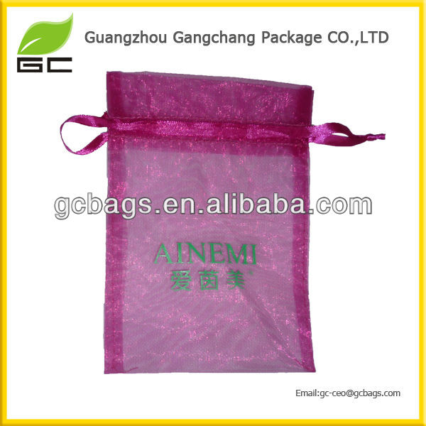 Best Fashion Customized Top Quality Mini Organza Drawstring Bags Wholesale