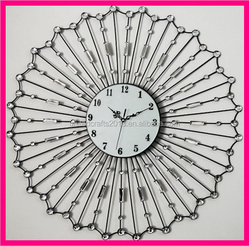Home Goods Wall Clocks large decorative home goods wall clocks crystal metal wall clock