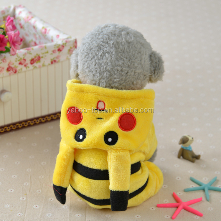 New Arrival Dogs Clothes Cute Cartoon Pokemon Design Cosplay Pikachu Pets Costume