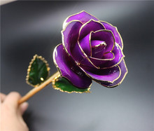 nature red rose 24k gold dipped rose