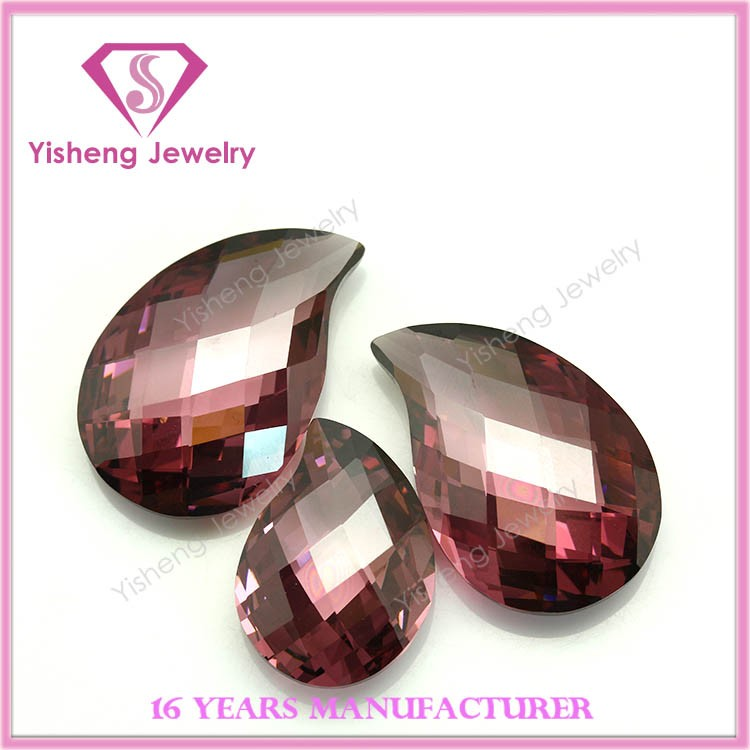 Wuzhou turtle faceted cz stone european machine cut cubic zirconia gem