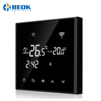 Black room thermostat with WIFI function for central air conditioning