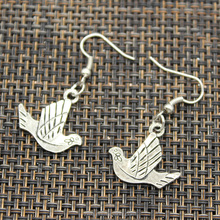 Popular Fashion Jewelry peace dove olive Pendant Design drop Earring for women