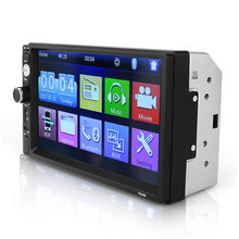 "2 din auto radio 7 ""HD Touch Screen Lettore MP5 SD/FM/MP4/USB/AUX /BT Car Audio Per La Vista Posteriore Della Macchina Fotografica A Distanza di Controllo"