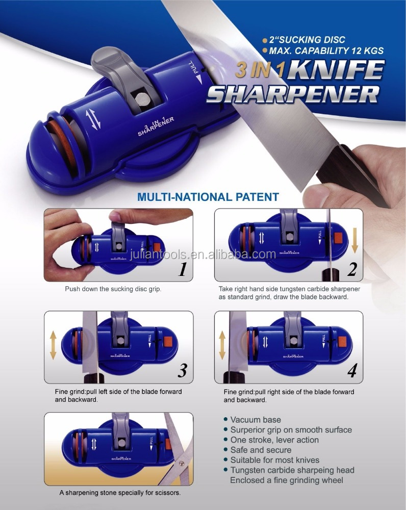 (AC-002) High Quality 3 Stages Knife Skate Sharpener