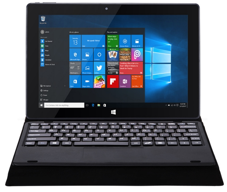 10.1 inch notebook Intel Z8350 Quad-core CPU 1.83Ghz laptop with Win 10/Andriod 5.1