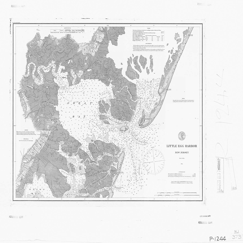 Vintography 24 x 36 Giclee Print Nautical Map Image Dixon HARB 1891 NOAA 34a