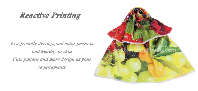 China cheap products red white fruits printed microfiber kitchen towels supplier
