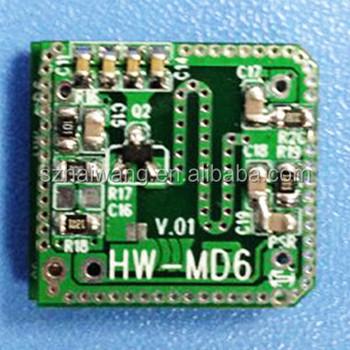 Hw-md6 10 525ghz Microwave Doppler Radar Sensor Module - Buy Sensor  Module,Doppler Sensor Module,10 525ghz Microwave Doppler Radar Auto-sensing