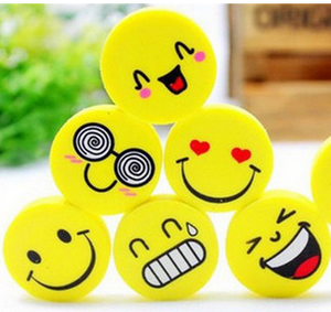 Emoji Eraser Emotion Kawaii Eraser Pencil Novelty Stationery School Supplies Kawaii Material Cute Erasers