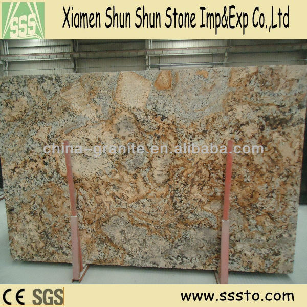 Polished Golden Crema Granite Slabs