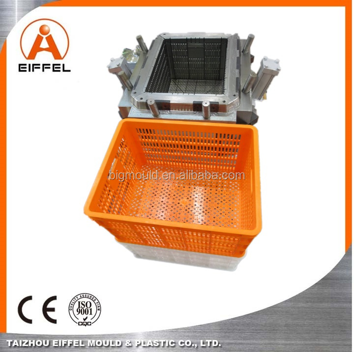 Plastic Injection Mold for Fruit Crate Mould Food Cage Molding PP Crate Mold